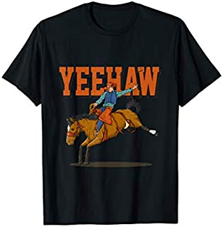 Yeehaw Horse Riding  Rodeo Cowboy Western Country T-shirt | Size S - 5XL