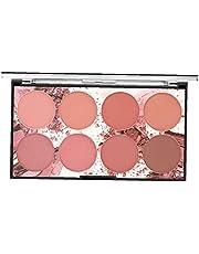 Miss Rose Blush, Palette Make-up Blush Cream Palette gezichtspoeder Blusher met 8 Blush 42G professionele make-up voor beginners & Make-upartiesten