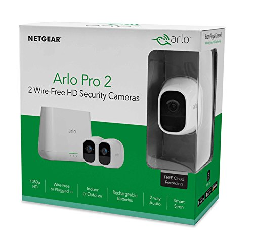 Arlo Pro 2 by NETGEAR 2 Camera Security System with Siren, Rechargeable, Wire-Free, 1080p HD, Audio, Indoor/Outdoor, Night Vision, Works with Amazon Alexa (VMS4230P) by NETGEAR (Image #5)