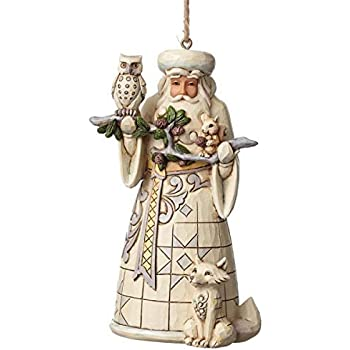 Jim Shore for Enesco 4050011 Heartwood Creek Woodland Santa Ornament, 4.75