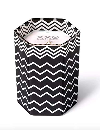Missoni for Target Black and White Zig Zag Glass Jar Candle Amberwood Jasmine, 7.1 oz