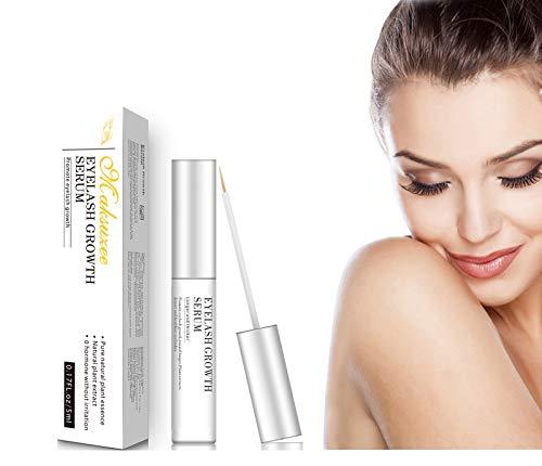 Maksuzee Eyelash Growth Serum(5ml) Pure Natural Formula Promote Eyelash&Brow Growth Become Longer Thicker Healthier