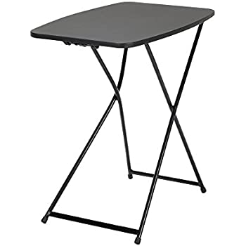 COSCO 18u201d X 26u201d Indoor Outdoor Adjustable Height Personal Folding Tailgate  Table, Black