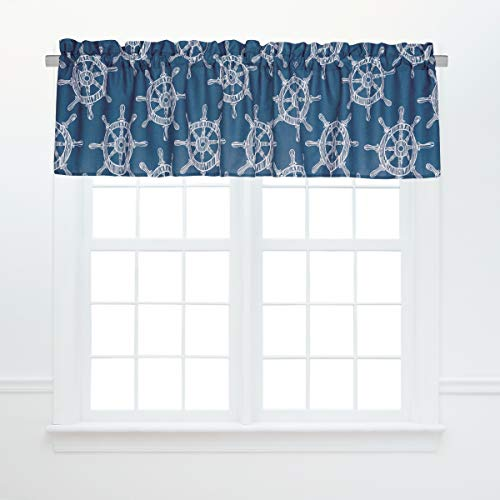 C&F Home Maritime Coastal Tropical Nautical Boat Sailing Beach Ocean Bedroom Guestroom Dining Premium Window Valance Valance Blue