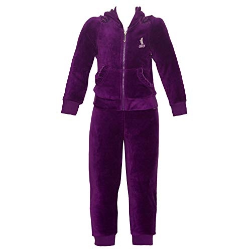 Juicy Couture Girl's 2 Piece Hooded Velour Track ()