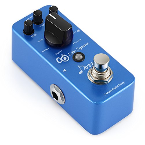 Delay Box (Donner Multi Digital Delay Pedal Echo Square Guitar Effect Pedal 7 Modes)