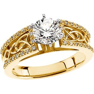 Jambs Jewelry 14K Yellow 1 1/4 CTW Diamond Celtic-Inspired Engagement Ring