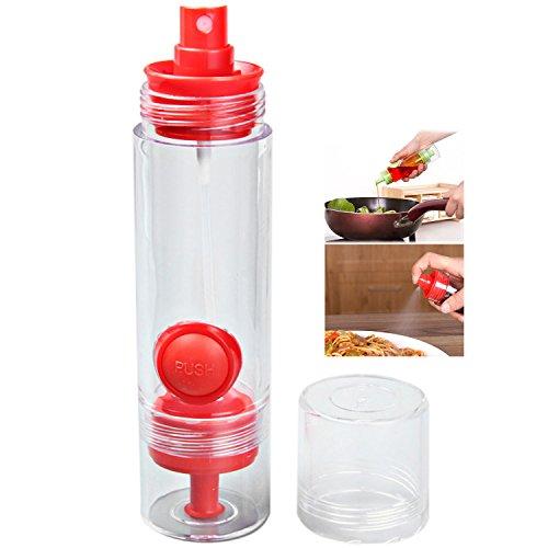 Oil Sprayers 2 in 1 Kitchen BBQ Condiment Oil Soy Sauce Vinegar Spray Bottle Cruet Dispenser