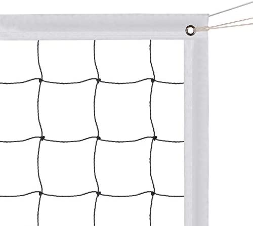 Sports Volleyball Net – Volleyball Replacement Net Standard Size (32 FT x 3 FT) with Steel Cable,Reinforced Side Tapes for Beach Garden Yard Pool Indoor Outdoor Play(Net Only)