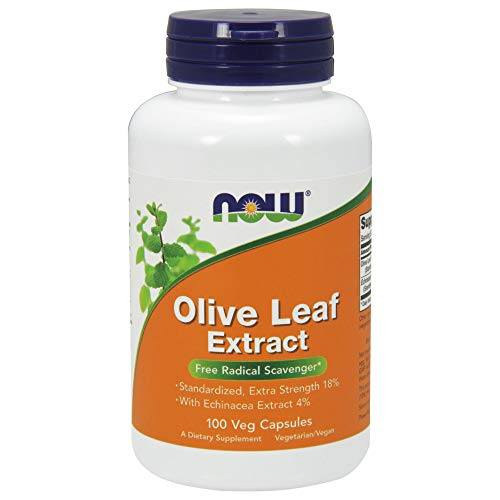 NOW Supplements, Olive Leaf Extract, Extra Strength, 100 Veg Capsules
