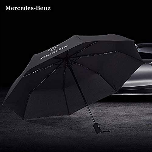 99085d550b7a Patricon Fully Automatic Sport Open Large Folding Black Umbrella Windproof  Sunshade with Car Logo for Mercedes Benz Accessory
