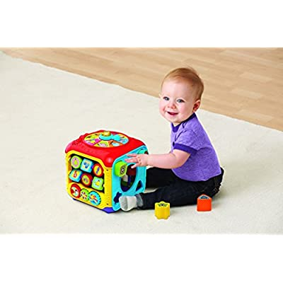 VTech Sort and Discover Activity Cube, Great Gift For Kids, Toddlers, Toy for Boys and Girls, Ages 1, 2, 3: Toys & Games