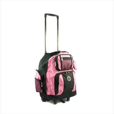 - Transworld Roll-Away Deluxe Rolling Backpack - Pink