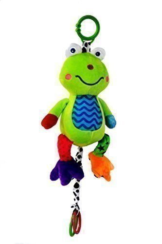 Musical Baby Toy (Large) by Zoomy Baby— Soft, Plush Frog — Huggable Stuffed Animal — Multi-Colored &...