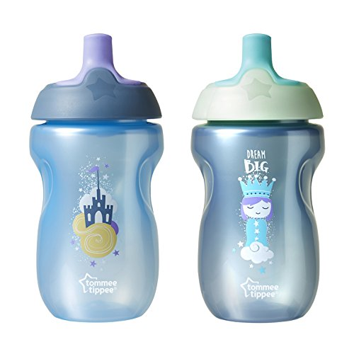 Sports Infant Bottle - Tommee Tippee Infant Trainer Sippee Cup, Boy - 12+ months, 10oz, 2 Count (Colors will vary)
