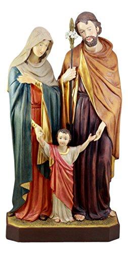 Ebros Large The Holy Family Statue Mother Mary Saint Joseph and Child Jesus Christian Catholic Figurine 23
