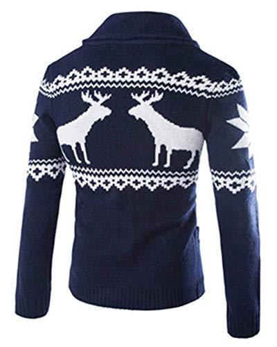 Reno Manches Marineblau Elodiey Noël Seulement Pull Homme Automne Tricoté Jeune Hiver Longues De XqAPqR