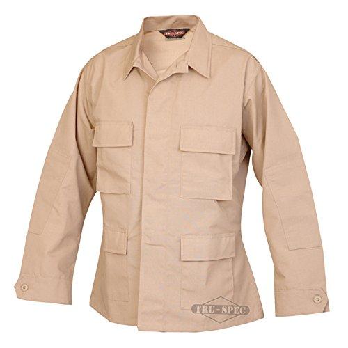 Tru-Spec Classic BDU Coat Polyester-Cotton Ripstop Khaki XL-Reg (Khaki Bdu Jacket)