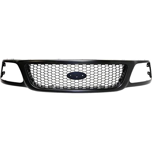 New Front Grille Assembly For 1999-2003 Ford F150 Black Frame/Painted Honeycomb, XL/XLT Models FO1200381 3L3Z8200BA