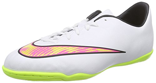 Nike Mercurial Victory V IC Jr - Zapatillas de fútbol infantil Blanco - Weiß (White/volt-hyper pink-black 170)