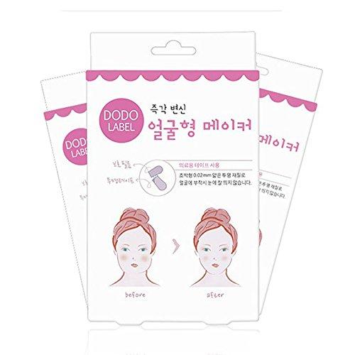 40PCS / Box, herramienta de maquillaje, cinta tranparente para maquillar, cinta para su cara se queda delgada, etiqueta engomada de la cara la etiqueta engomada invisible de la elevación de la barbilla las herramientas de la belleza Lanlan