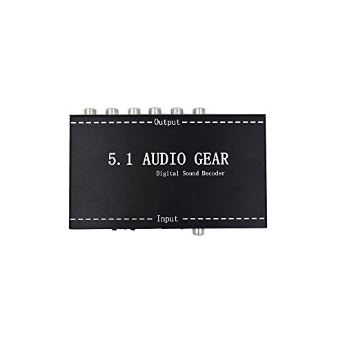 Multi Channel Electronic (VCANDO Upgrade 5.1 Audio Gear Surround Digital Sound Decoder with Multi-channel Audio Input to Analog 5.1-channel or Stereo Output)