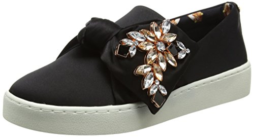 Ted Baker Damen Tinzel Text Af Black Pumps Schwarz (Black)