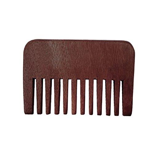 Walmeck 1pc Wooden Hair Comb Man's Beard Comb Anti-static Male Mini Facial...
