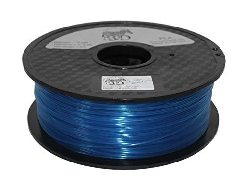 COLORME 3D Haze Filament Quality 3D Printer Filament Pacific Blue Haze PLA-1KG (2.2 LBS) Made in The USA 1.75 mm +/- 0.05 mm Accuracy-Pacific Blue Haze PLA