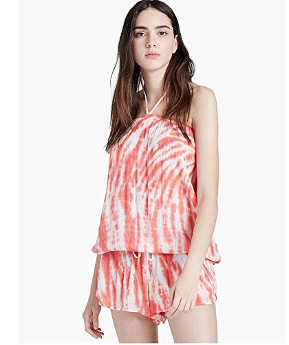 - Lucky Brand Women's Fireworks Tie-Dye Cover-Up Romper, Tropical Punch, X-Small/Small