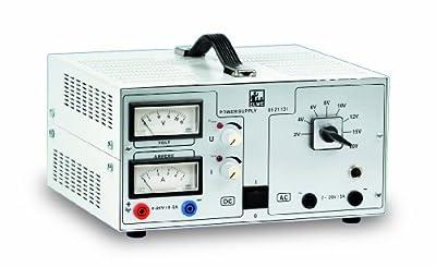 3B Scientific U8521131-115 AC/DC Power Supply, 0-20V, 0-5A 115V, 50/60Hz