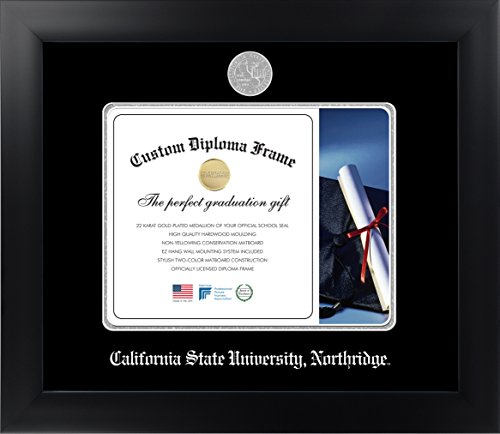 California State University, NorthridgeTM 8½ x 11 Matte Black Finish Infinity Diploma Frame by Celebration Frames