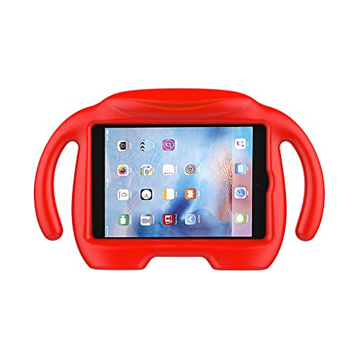 LEDNICEKER Kids Case for iPad Mini 1 2 3 4 5 - Light Weight Shock Proof Handle Stand Kids Friendly for iPad Mini, Mini 5 (2019), Mini 4, Mini 3rd Generation, Mini 2 Tablet - Red