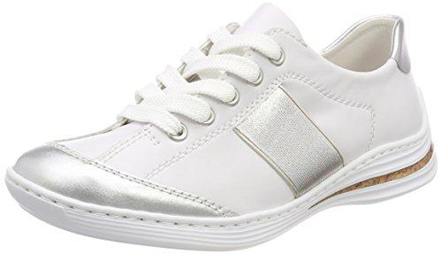 M3553 Sneakers Blanc silver Rieker Basses Femme weiss HzBdzx8