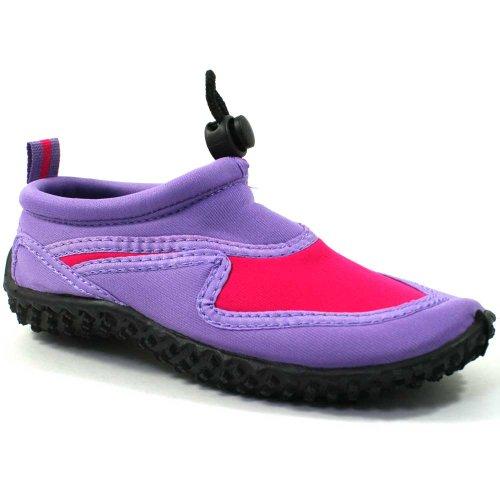 Osprey Kids Childs Aqua calcetines zapatos de playa fw334PIMPLE Rosa/púrpura UK7