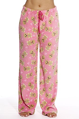 6339-10178-XL Just Love Women's Plush Pajama Pants - Petite to Plus Size Pajamas,Pink - Gingerbread ()