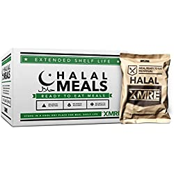 HALAL MEALS 1000 BLD - CASE OF 12 WITH HEATERS