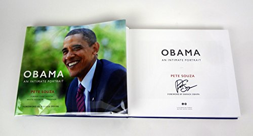 Pete Souza Signed Autograph Obama: An Intimate Portrait 1st Edition Book