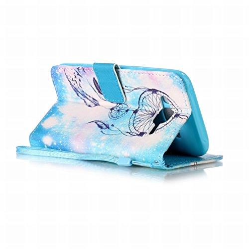 Yiizy Samsung Galaxy J5 (2016) J510 Funda, Noche Campanula Diseño Solapa Flip Billetera Carcasa Tapa Estuches Premium PU Cuero Cover Cáscara Bumper Protector Slim Piel Shell Case Stand Ranura para Tar