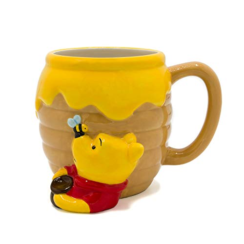 (Silver Buffalo WTP3063D Winnie the Pooh Honey Pot Ceramic 3D Sculpted Mug, 23-ounces, Brown)