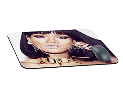 Rihanna Pop Music Sexy Celebrity Natural Rubber Mouse Pad-Rectangle mousepad Gaming and Office mouse pad-mousepads for Gift(8.7*7.1*0.12inch)