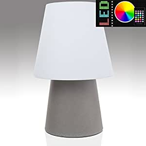 Mia Light Lámpara suelo decorativa exterior ø390 mm/RGB LED/regulable/mando a distancia/Modern/gris/plástico/lámpara