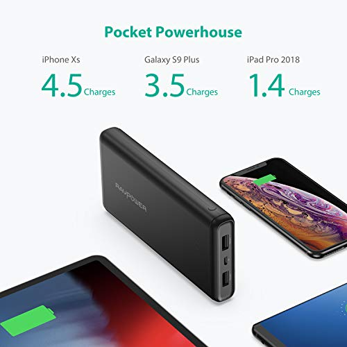 Portable Charger RAVPower 20000mAh Power Bank USB External Battery Pack Dual iSmart 2.0 USB Ports, U - http://coolthings.us