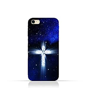 iPhone 6 Plus / 6 Plus S TPU Silicone Protective Case with Christian Cross on a Starry Night Design