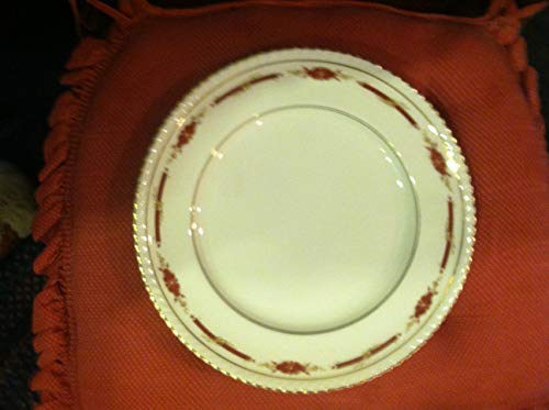 (Johnson Brothers Guildford Maroon Bread & Butter Plate, Fine China Dinnerware - Old English, Maroon Flowers & Band )