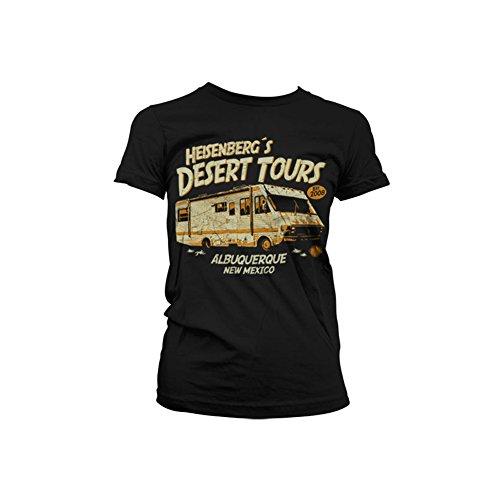 Officially Licensed Merchandise Heisenberg´s Desert Tours Girly T-Shirt (Black), Large