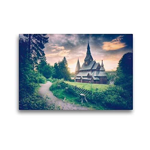 CALVENDO Toile de qualité supérieure 45 cm x 30 cm - Gustav Adolf - Tableau Mural - Tableau sur châssis - Impression sur Toile véritable - Orte
