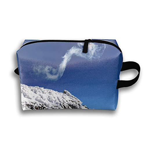 f16f0ba1cc91 PANQJN Hiking Among The Clouds On Yunnan's Jiaozi Snow Mountain Cosmetic  Case Portable Artist Storage Bag Toiletry Jewelry Bags