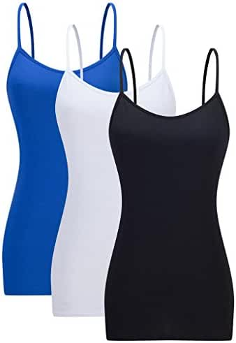 Womens Basic Tank Top Stretchy Camisole