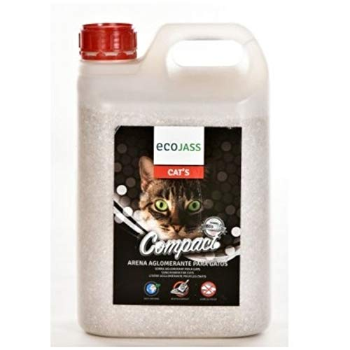 Ecojass Arena de silice para Gatos 100% Natural: Amazon.es: Productos para mascotas